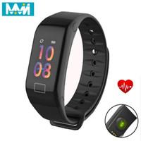 MMN Pulseira inteligente F1 mais a pressão do sono monitor de Fitness Rastreador Heart Rate inteligente Banda Sangue relógio da tela Atividade Rastreador Banda