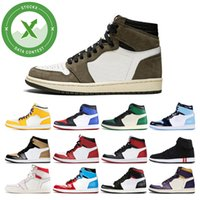 Men basketball shoes 1s high og UNC to Chicago Pine Green Tr...
