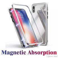 Magnetic Adsorption Tempered Glass Back Panel Phone Cover Ph...