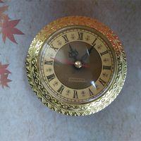 Vente en gros 5pcs couleur or diamètre extérieur de couleur 92mm à quartz intégré insert horloge bricolage accessoires gastronomie livraison gratuite