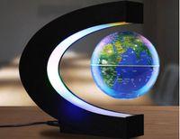 모양 C 자기 부상 지리 글로브 부동 세계지도 Tellurion LED 빛 Terrestre 어린이 교육 완구 세계 반 중력 마법