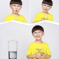 Смешные мягкие очки солома Уникальных гибкого Питьевого Tube Kids Party Красочной безопасность Симпатичный Пластиковые многоразовый сок питьевой соломинка DH1265 T03