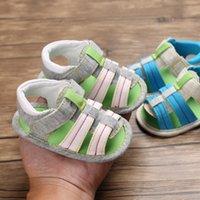 새로운 여름 신생아 아기 소년 소녀 샌들 소프트 유일한 여름 캔버스 솔리드 중공 침대 신발 운동화 Prewalker 0-12M M200511