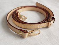 Ersatztasche Strap 1.4 * 120 cm Einstellbare Tasche Zubehör Gold Hardware Crossbody Strap echtes Leder