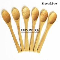8 Tamanho pequeno bambu Spoons Natural EEO-Friendly Mini mel Colheres da cozinha Mini Café Colher de Chá Crianças Ice Cream Scoop 9 ~ 16 centímetros
