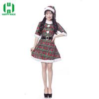 9d11866bda2 Nouvelle Arrivée De Noël Robe Femmes De Noël Costume Pour Adulte 2018 Fille  Le Père Noël Robe Sexy Femelle Père Noël Costume