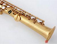 95٪ نسخة أداة اليابان KUNO KSS-902 سوبرانو الساكسفون الذهب الطلاء B شقة ساكس الفنية الموسيقية مع حالة الناطقة بلسان