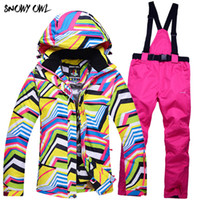2018 New ski suits women' s jacket+ pants snowboard cloth...
