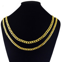 gioielli moda uomo classico collane catene in acciaio inossidabile placcato collane 18K collana collana di lusso della roccia punk