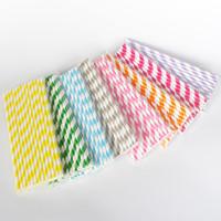 25 piezas de pajitas de papel biodegradable diferentes colores pajitas de papel de rayas de arco iris pajitas de papel a granel para jugos pajita colorida