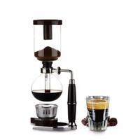 Estilo japonês café Siphon Pot 3/5 Cups Siphon Coffee Drip Chaleira Vácuo Filtro Pot Cafetera TCA-05/03 Sifão Chá
