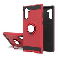 Hybrid Armor Case With Ring Kickstand Magnetic Holder For iP...