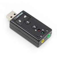 USB Sound Card Virtual 7.1 Внешний USB Advio Adapter USB для разъема 3,5 мм Наушники Микфона Звуковая карта для ноутбука ноутбука