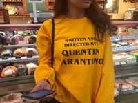 OKOUFEN QUENTIN TARANTINO Sweat Mode Casual Manches Longues Automne Hiver Pulls Lettre Imprimer Femmes Sweatshirts Drop Ship