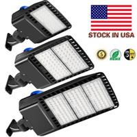 재고 있음 미국 + 520W 300W 200W 150W LED Shoebox 주차장 Light IP65 방수 야외 거리 극 빛 DLC 나열된 광전지 센서