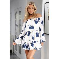 Brand Designer Böhmischen Rock Frühling und Sommer Frauen Mode One-Shoulder Sexy Backless Print Kleid Strand Party Kleider