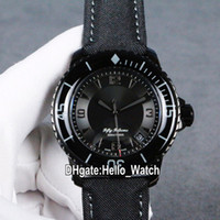 Nuevo Cincuenta Fathoms 50 Fathoms 5015-11C30-52A Dial Negro Miyota 8215 Reloj Hombre Automático PVD Caja de acero negro Strap Hello_Watch