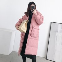 Maternity Women Winter Mid- long Hooded Down Cotton Coat New ...