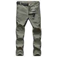 Pantalones al aire libre Summer Secado rápido Hombre Thin Transpirable Impermeable Senderismo Masculino Pantalones de pesca Pantalones de pesca