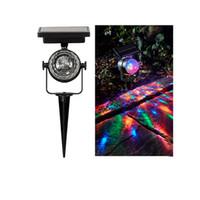 Stage Party Light Lamp Spotlight Solar Projector Luz Lawn Luzes LED RGB Rotating Projecção Lâmpadas bola impermeável para Jardim