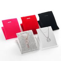 [DDisplay] Espositore per gioielli con collana di superficie incurvata Espositore speciale per gioielli con pendente in velluto di ghiaccio