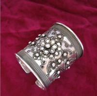 Jewelryr Pearl Bracelet Miao Xiang Dong Village] Yang Liping bracciale con lo stesso braccialetto fatto a mano Miao in argento con bracciale in seta Spedizione gratuita