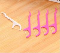 25pcs / set dentaire Floss interdentaire Se brosser les dents bâton cure-dents souple dents amphidrome silicone Picks soins bucco-dentaires dents Clean