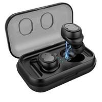 Binaural Bluetooth Smart 5.0 écouteur casque sport musique de contrôle tactile stéréo surround 3D sonore denoise boîte de charge imperméable Conseils voix