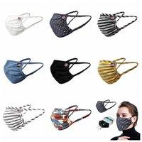 Männer Frauen-Sommer-Masken waschbar Baumwolle atmungsaktiv gestreifte Maske Staubdichtes Schutzmundschutz Patchwork Masken RRA3248