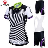X-Tiger Women Ciclismo Jersey Summer Set Anti-UV MTB Bike Cycling roupa terno roupa respirável bicicleta Suit