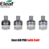 Eleaf Ijust AIO POD Cartridge Capacité GT Fit Remplir système Mesh 0.6ohm / GT 1.2ohm Coil pour Ijust AIO Batterie authentique