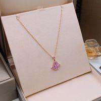 Женщины ожерелья мода ювелирные изделия S925 стерлингового серебра покрытием кубический Циркон позолоченные ожерелья женщины партия подарок