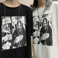 Itachi Uchiha Man été t-shirt À Manches Courtes O Cou Surdimensionné Vêtements 2019 Naruto Imprimer Anime Couple De Mode Coton Polyest Top