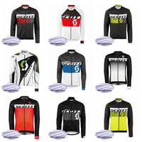 SCOTT Team Radfahren Winter Thermal Fleece Trikot Hot New Herren Langarm Fahrradbekleidung Ropa Ciclismo Q62048