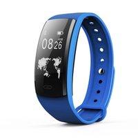 QS90 Smart-Armband-Uhr-Blutdruck-Puls-Monitor-Smart Watch OLED-Bildschirm IP67 Fitness Tracker Smartwatch für iPhone iOS Android