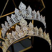 moda zircônia casamento das mulheres por atacado bridal cabelo acessórios cocar de aniversário da coroa caixa de presente embalagem