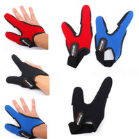 새로운 도착 두 손가락을 손가락 보호대 단일 조절 탄성 보호 장갑 플라이 잉어 낚시 장갑 액세서리 캐스팅