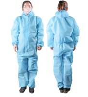 Одноразовая защитная одежда одноразовый водонепроницаемый нетканый защитный комбинезон одежда общий костюм безопасность спецодежда LJJO7817