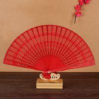 مراوح خشبية العطر زفاف لصالح حزب هدية الصينية اليابانية الصندل للطي مروحة اليد التصوير الدعائم W9279