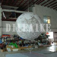 شحن مجاني العملاق 2M كوكب بالون الإعلان القمر الكرة أدى ضوء القمر نفخ البالون لأحداث معرض الديكور