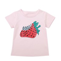Kids Clothes Summer Baby Girl Boy Short Sleeve T-Shirts For Kids Strawberry Printed Tops Tees Shirts Casual Blouse