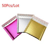 50 Teile / los Mailers Gold Papier Luftblasenumschläge Taschen Mailers Gepolsterter Versandumschlag Mit Luftblasenversandbeutel