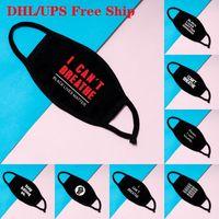 Stok ben Hamamböceği Yetişkin DHL Kargo FY9131 için Yıkanabilir Pamuk Maskeler Siyah Hayatlar Matter Maskeleri Moda Tasarımcısı Maske Yüz Maskesi Breathe