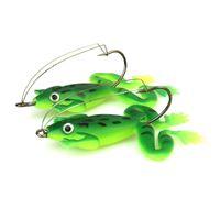 Nueva rana del señuelo 5 colores 6cm 5g con gancho blando señuelo de la pesca cebos artificiales cabeza de serpiente peche asesino pesca