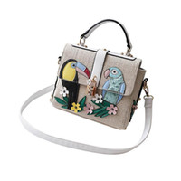 9468b03a956f Embroidered Small Square Bag Bird Shoulder Slung Mobile Handbag Hand Bags  Handbag For Women Girls Female Tote Crossbody Cute Bag