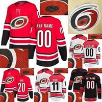 Carolina Hurricanes Jersey caliente perforación 20 Sebastian Aho 11 Staal Personalizar cualquier número cualquier jerseys nombre de hockey