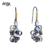 Deczign Recommend Beautiful Flower Earings Gift for Women Mu...