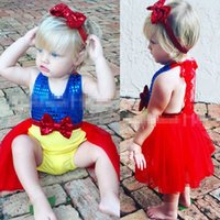 Neue Kinder-Baby Pailletten Bodysuit Body Partei Tutu Overall Outfits sunsuit Beliebte Schnee Prinzessin Kleid Body Cosplay Set