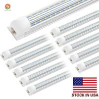 SMD 2835 T8 V tubolari LED Integrati Linea Bar luce 1 piede 2 piedi 3 piedi 4 piedi 5 piedi 6 piedi 8ft 85-265V rigida Led Tubes