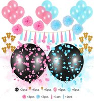 Articoli per feste Set di palloncini di genere Set di palloncini in lattice Puntelli per foto Baby Shower Set di palloncini Banner Confetti Balloons Photo Booth Puntelli